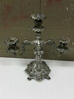 """Reed and Barton 800 Renaissance Candelabra Silver-plate 3 Candle Holder 16"""" Tall"""