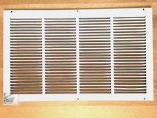 """White Steel Return / Intake Air Grille for 24""""'x14"""" Opening"""