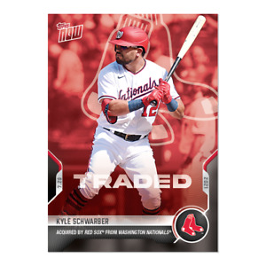 2021 TOPPS NOW #574 KYLE SCHWARBER TRADED TO BOSTON RED SOX