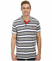 US POLO ASSN SLIM FIT POLO SHIRT STRIPED BLUE GRAY WHITE BRAND NEW S M L XXL*NWT
