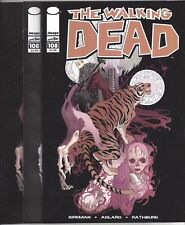 WALKING DEAD #108 BLIND BAG VARIANT x3 COLOR REG VIRGIN B&W RIOS ART EZEKIEL 1ST
