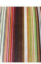 "1970 Look Retro Multi Stripe 100% cotton corduroy-56"" wide 2 pieces-3 & 3.5 yrds"