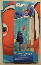 "New! Disney Pixar Finding Dory Nemo Shower Curtain 72"" x 72"" 100% Polyester"