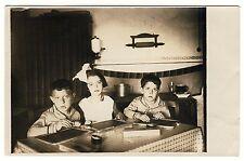 KINDER HAUSAUFGABEN SCHULTAFEL SCHIEFERTAFEL TAFEL * Vintage 20s Photo PC