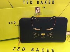 Ted Baker Cat zip matinee Purse TAMMY IN Classic Black Matte NEW WITH TAGS &BOX