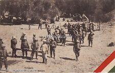 LIBYA  TRIPOLI - Truppe di riserva alla BU - MELIANA Italo turkish war