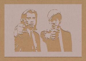 Pulp Fiction Samuel L Jackson Stencil Celebrity Movie Star Action Cult Classic