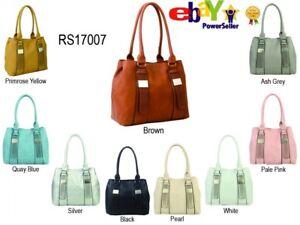 Fashion Womens Ladies Designer Faux Leather Buckle Handbag Tote Shoulder Bag New