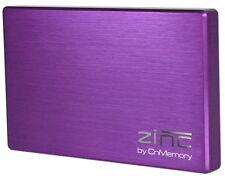 CnMemory Leergehäuse HDD Festplatte Alu Gehäuse Zinc 2,5 Zoll USB 3.0 lila