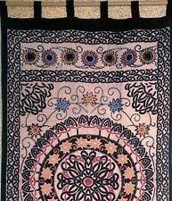 """Handmade"" Celtic Sunflower 100% Cotton Tab Top Curtain Drape Panel 44x88"