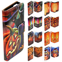 For Samsung Galaxy Series Halloween Theme Print Wallet Mobile Phone Case Cover 2