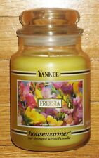 Yankee Candle - FREESIA - 22 oz - Black Band - RARE AND HARD TO FIND!!