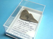 British Found Neolithic 'New Stone Age' 3500 Bc Flat Flint Point. With Case.