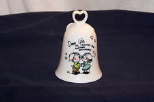 AN ENESCO PORCELAIN BELL   Dear God It's Another Year,Another Anniversary 1982