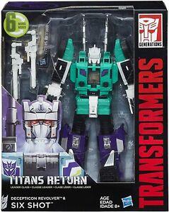Six Shot & Revolver MISB Leader Class Titans Return Generations Transformers