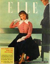 Elle n°182 du 23 mai 1949 - Henri Vidal et Michèle Morgan - Robe de Marié