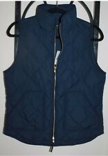 J.CREW NEW Excursion Vest Dark Navy Blue Quilted Down Puffer NWT S
