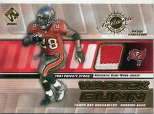 2001 Private Stock Game Worn Gear Patch Football Card #131 Warrick Dunn/250 Jsy