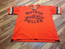 VTG 70s Sport King Muther Puller Drag Racing Jersey Shirt Men's Large Rockabilly