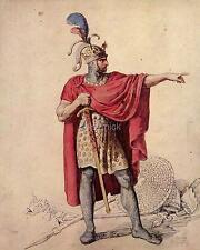 Alfred el gran rey de Wessex Inglaterra Anglo Saxon 6x5 Pulgadas impresión