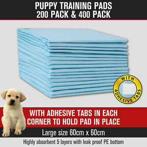 Puppy Dog Pet Training Pads 200pk/400pk Cat Indoor Toilet Mats 60x60cm Absorbent