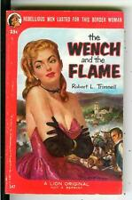 THE WENCH AND THE FLAME Trimmell, rare US Lion #147 gga pulp western vintage pb