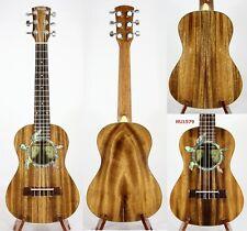 Alulu 6 String Solid Acacia Koa Tenor Ukulele, Turtle Inlay, Case, HU1576-HU1580