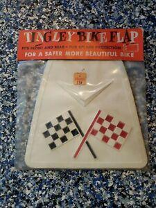Vintage Bicycle NOS Checkered Flag Chevron Mud Flap Schwinn Bike Pee Wee Herman