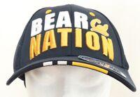 "California Cal Golden ""Bear Nation"" Zephyr Navy Stretch Cap Hat Adult M/L flex"