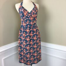 Kay Unger Women's Open Back Halter Neck Silk Dress Size 2