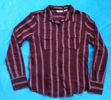 AMERICAN EAGLE OUTFITTERS Sheer ~ Maroon ~ Long Sleeve  Shirt ~ Size 6
