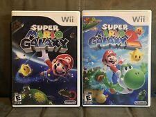 Super Mario Galaxy 1 & 2 (Wii) TESTED WORKING