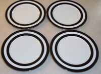 SET OF 4 RALPH LAUREN RL  Spectator Black   Salad Plates Portugal  about 8 1/4""