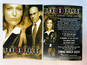 "2003 INKWORKS ""X-FILES"" SEASON 9 UK PROMO TRADING CARD - V/Good Condition"