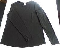 LA Shirt Gr. L H&M NEU schwarz basic gerippt glatt Damen