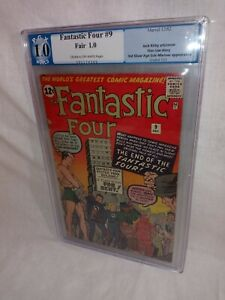 1962 Fantastic Four #9 ~CGC 1.0~ Sub-Mariner ~Stan Lee Jack Kirby END OF THE FF!