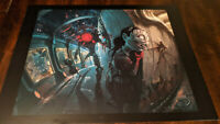 Bioshock 2 Lithograph - Demented Little Sister with Big Sister Rare Art