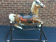 Vintage Wonder Horse Spring Rocking Horse Rawhide Excellent Condition