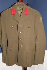 Original 1956 d. Belgium Army Officers Dress Uniform Jacket w/Bullion Insignia