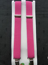 BRACES for BOYS/GIRLS/CHILDREN/KIDS - DEEP PINK- fit approx.6-12 years.  UK MADE