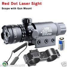 Rojo punto mira láser rifle Alcance w Rail&Barrel Mounts Cap Interruptor presión