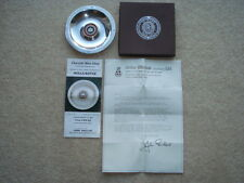 RARE 75 YEARS OF ROLLS ROYCE 1904-1979 SILVER & WEDGWOOD SOUVENIR BOXED DISH