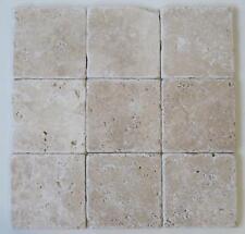 Naturstein Fliesen Travertin antik Getrommelt 10x10cm Boden Wandfliese 100 Stück