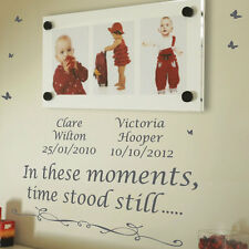 Personalised In These Moments Time Stood Wall Quotes Stickers Wall Decal th