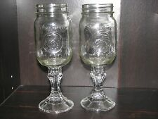 Golden Harvest Mason Jar Redneck Wine Glasses Hillbilly 16 oz Toasting Wedding