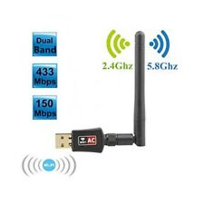600Mbps Dual Band 5.8Ghz Wireless USB WiFi Adapter Antenna 802.11AC Long Range