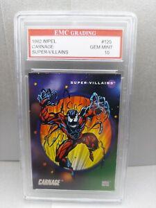 CARNAGE 1992 IMPEL #126 EMC GRADED 10 TRADING Card Marvel! MINT NEW MOVIE!