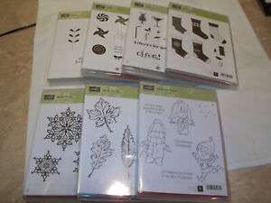 Lot of 7 Stampin Up Stamp Sets  - Variety of Themes