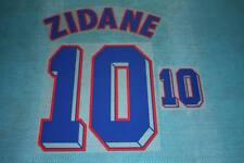 FIFA WORLD CUP 1998 France #10 ZIDANE Awaykit Name Set Printing