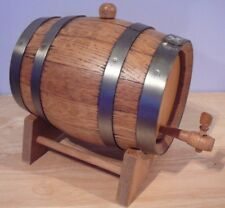 Vintage Wood WINE BRANDY CHAMPAGNE Barrel Cask On Stand